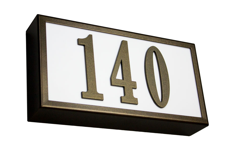 Serrano Lighted Address Plaque