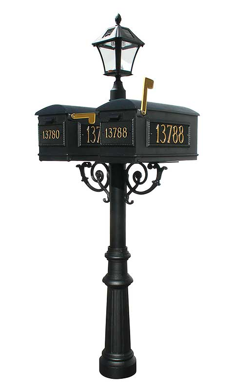 Lewiston Double Mailbox With Solar Light