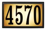 Bayside lighted address plaque