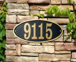 Clarmont Oval Address Plaque