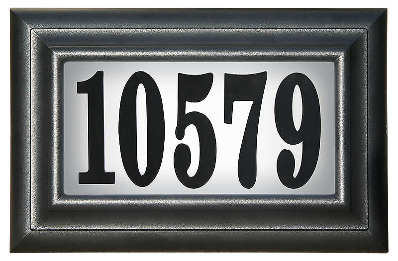Edgewood Classic address plaque LED-2