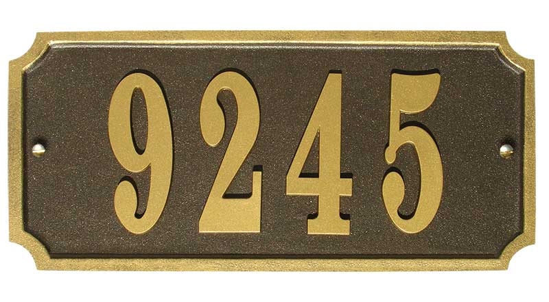 Waterford Rectangle Quick Ship Cast Address Plaque