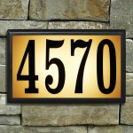 Bayside lighted address plaque