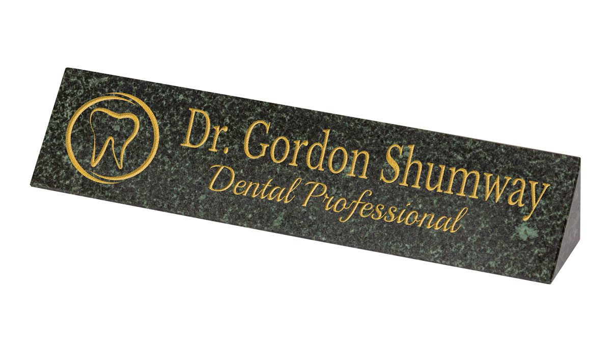Granite Desk Plaque