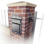 Kingsbury Front Access column and masonry mailbox
