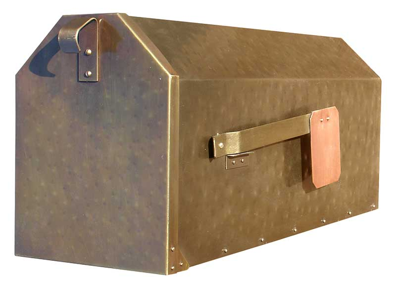 MB900 Brass Post Mounted Mailbox