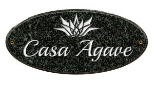 Custom Engraved Oval Emerald Address Plaque