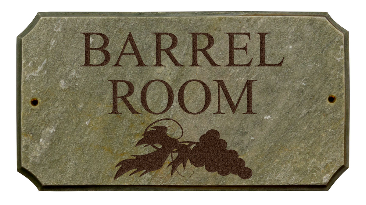 Wine Room Custom Plaque