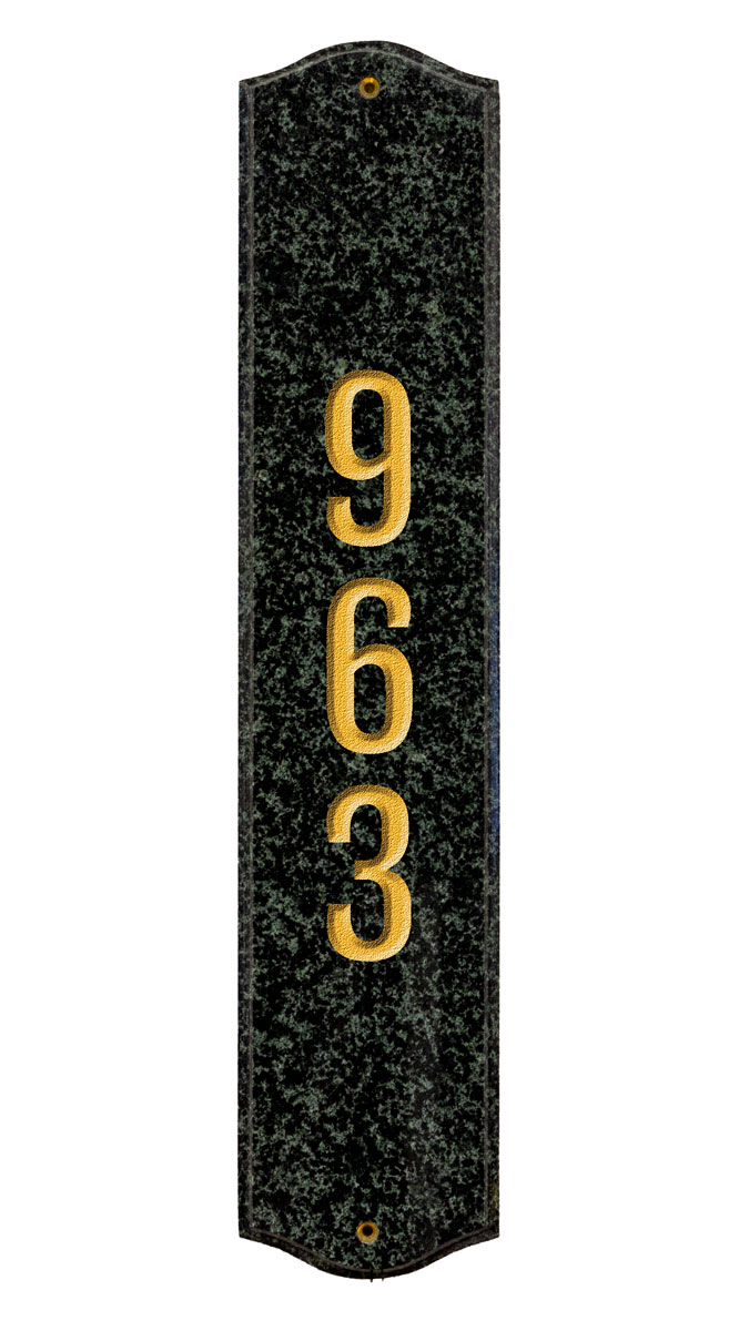 Vertical Granite Address Plaque