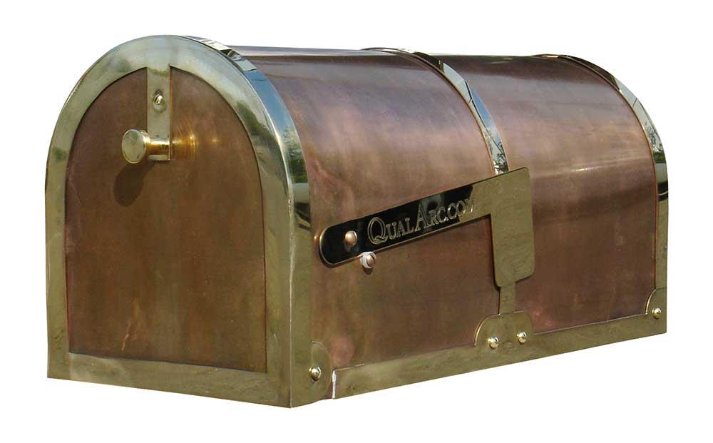 MB3000 Brass Post Mount Mailbox
