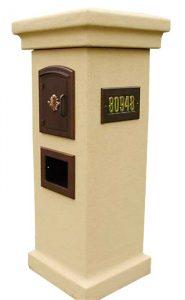 Stucco Mailbox Column