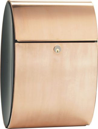 Allux Ellipse locking wall mount mailbox