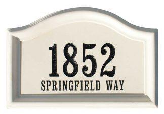 Arched Cast Concrete Address plaque