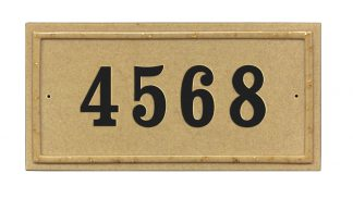 Crushed Stone Rectangle Address Plaque