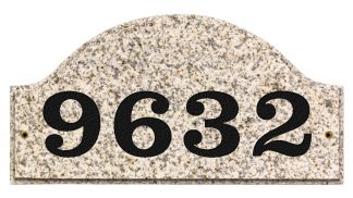 Ridgecrest Arched granite address plaque
