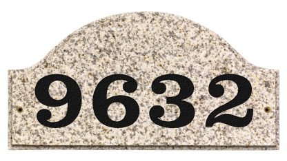 Ridgecrest Arched granite address plaque