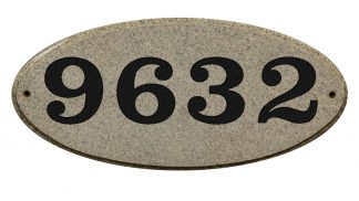 Solid granite address plaque sand granite color