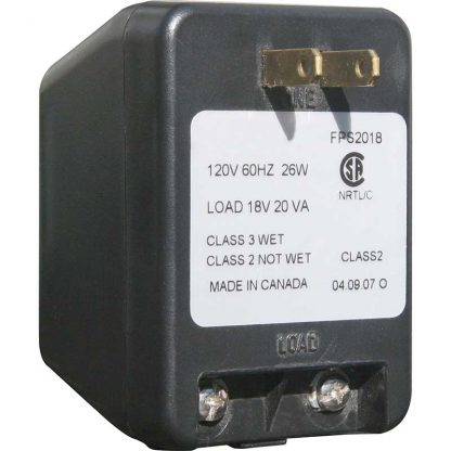 Plug in style transformer for lighted address plaques