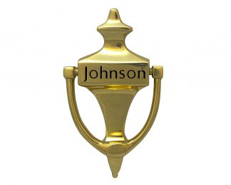Large brass door knocker