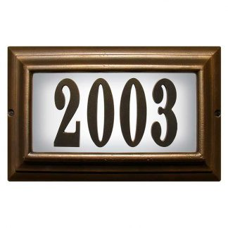 Edgewoo Standard lighted address plaque