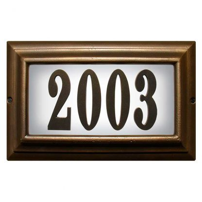 Edgewoo Standard lighted address plaque