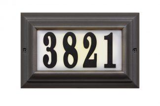 Edgewood Large lighted address plaque