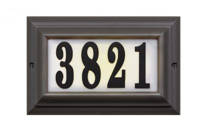 Edgewood Large lighted address plaque