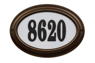 Edgewood Oval lighted address plaque