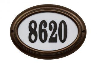 Edgewood Oval lighted address plaque