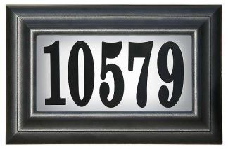 Edgewood Classic lighted address plaque