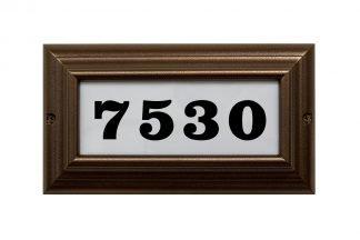 Edgewood standard lighted address plaque