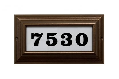 Edgewood standard lighted address plaque