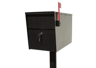 LettaSafe locking post mount mailbox