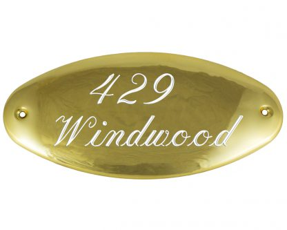 Medium brass oval plaque