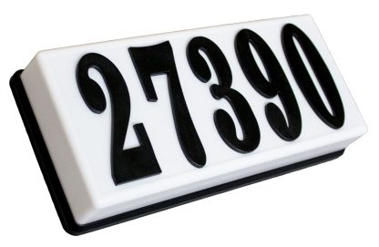 Serrano Classic lighted home address plaque