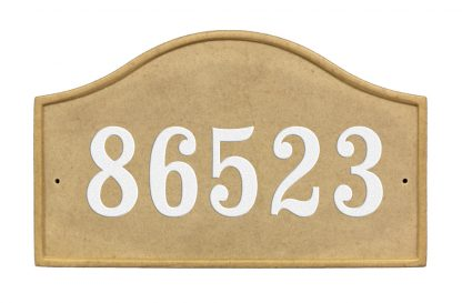 Sandsotne crushed stone serpentine address plaques