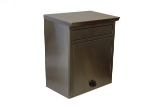Stainless steel wall mount mailbox