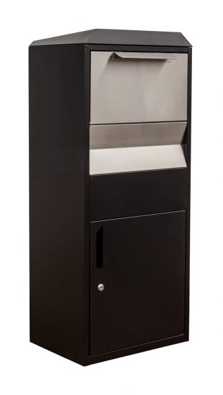 Locking Parcel box with stainless steel accents