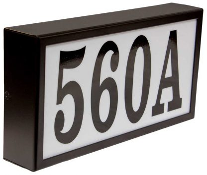 Serrano Standard lighted address house numbers