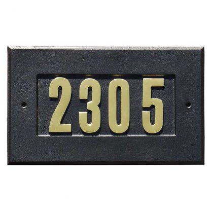 Manchester aluminium address sign