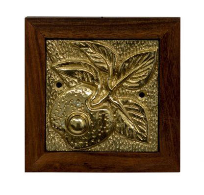 Brass doorbell button with apple design