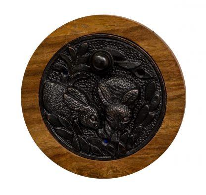 Dark Bronze Doorbell With Rabbit Design