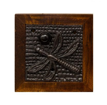 Bronze Doorbell Button With Dragon Fly Design