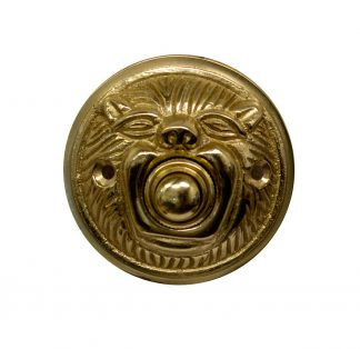 Brass animal head doorbell