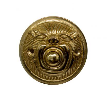 Brass animal head doorbell