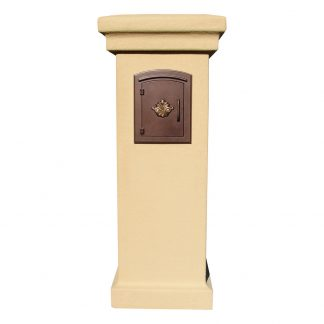 Stucco column mailbox