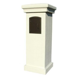 Stucco mailbox column