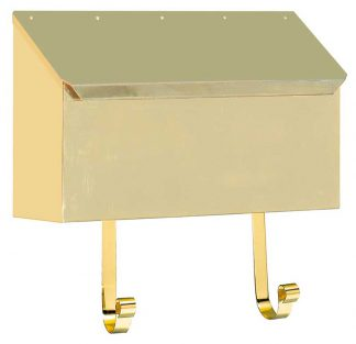 MB-500 polished brass wall mount mailbox