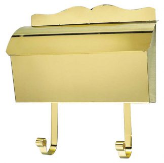 Mb-900 Polished brass wall mount mailbox