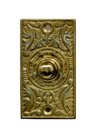Rectangle brass doorbell button